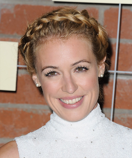 Cat Deeley Casual Curly Updo Hairstyle - Dark Blonde