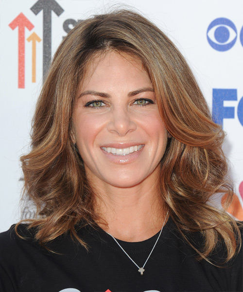 Jillian Michaels Medium Wavy Formal Hairstyle - Medium Brunette (Chestnut) Hair Color