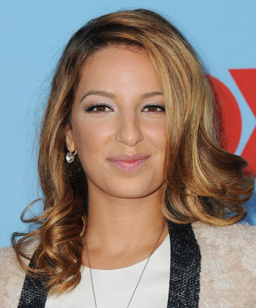 Vanessa Lengies Medium Wavy Hairstyle - Dark Blonde (Copper)