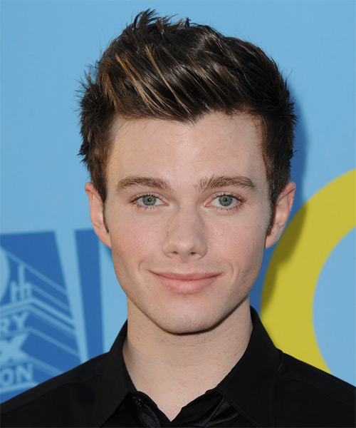 Chris Colfer Short Straight Hairstyle - Medium Brunette