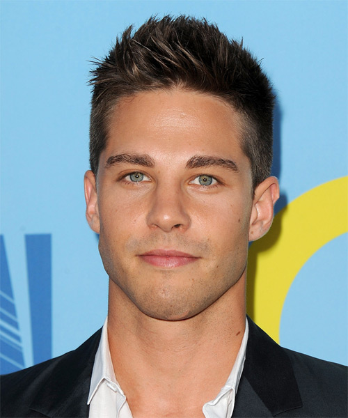 Dean Geyer Short Straight Hairstyle - Dark Brunette