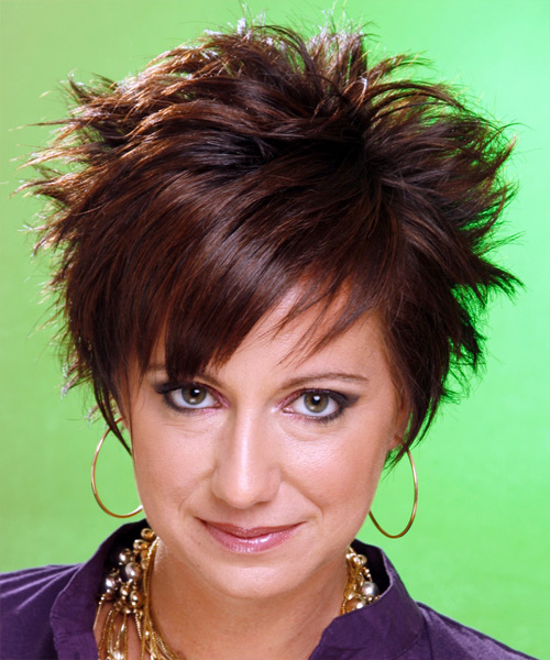 Short Straight Alternative Hairstyle (Chocolate)