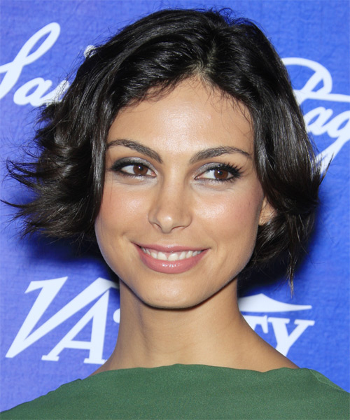 Morena Baccarin Short Straight Casual Bob Hairstyle - Black Hair Color
