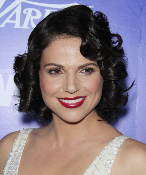 Lana Parrilla Short Wavy Formal Hairstyle - Black Hair Color