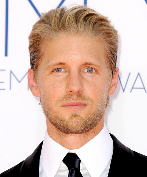 Matt Barr Short Straight Formal Hairstyle - Medium Blonde (Golden) Hair Color