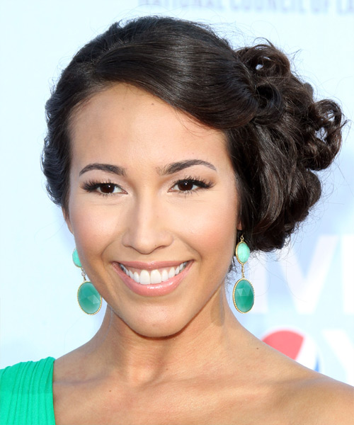 Marisa Quinn Updo Long Curly Formal Wedding - Dark Brunette