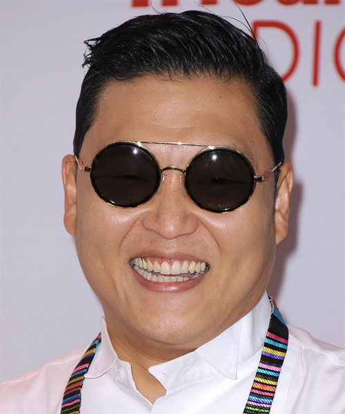 PSY Short Straight Hairstyle - Black