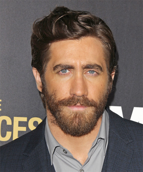 Jake Gyllenhaal Short Wavy Casual Hairstyle - Medium Brunette Hair Color