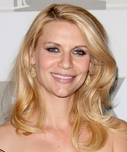 Claire Danes Long Straight Hairstyle - Medium Blonde (Golden)