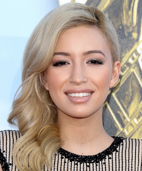 Christian Serratos Long Wavy Hairstyle - Light Blonde (Ginger)