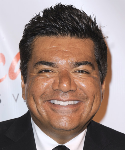 George Lopez Short Straight Hairstyle - Black