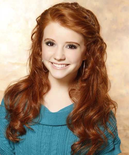 Long Wavy Casual Hairstyle - Medium Red (Ginger) Hair Color