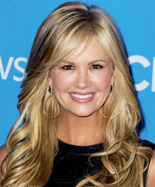 Nancy O Dell Long Straight Formal Hairstyle - Dark Blonde Hair Color