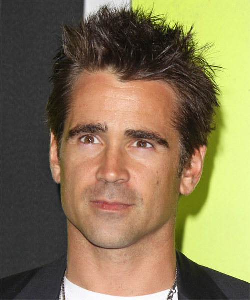 Colin Farrell Short Straight Casual Hairstyle