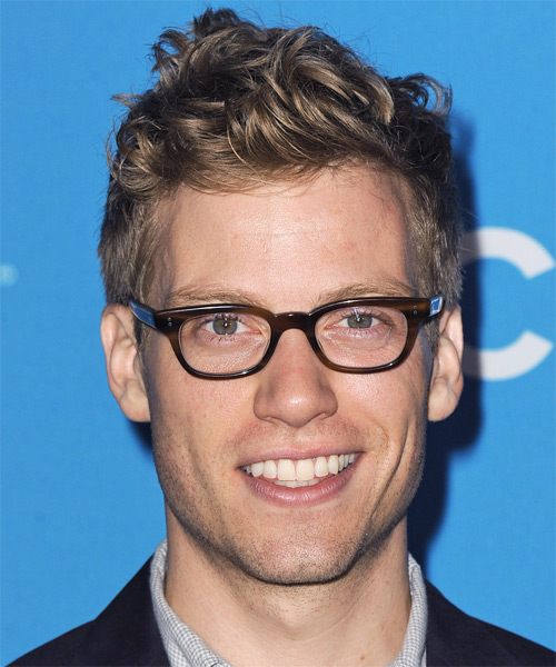 Barrett Foa Short Wavy Hairstyle - Dark Blonde