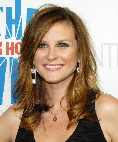 Bonnie Somerville Long Wavy Casual Hairstyle - Dark Blonde (Copper) Hair Color