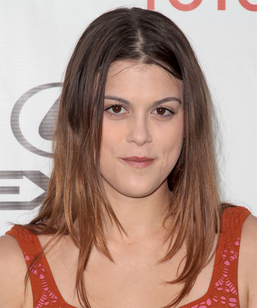 Lindsey Shaw Long Straight Casual Hairstyle - Medium Brunette Hair Color