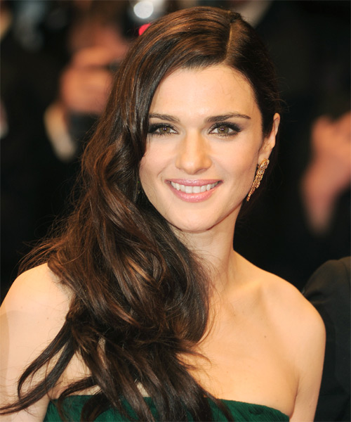 Rachel Weisz Long Wavy Formal Hairstyle - Dark Brunette Hair Color