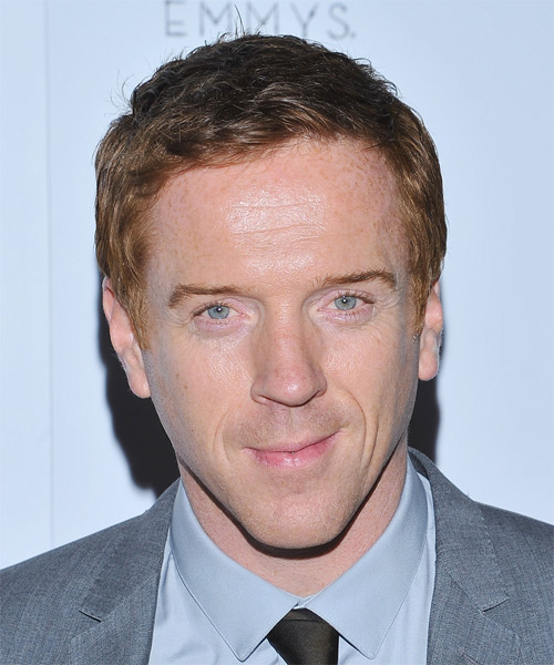 Damian Lewis Short Straight Hairstyle - Medium Red (Strawberry)