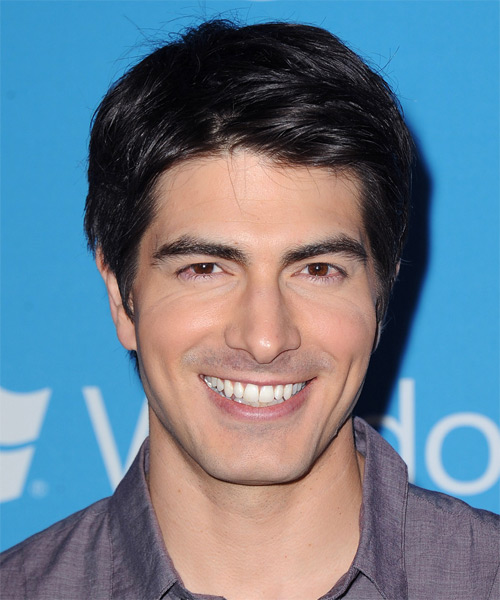 Brandon Routh Short Straight Hairstyle - Black