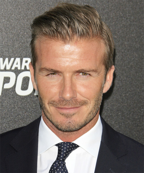 David Beckham Short Straight Hairstyle - Light Brunette (Ash)