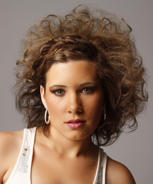 Alternative Medium Curly Hairstyle