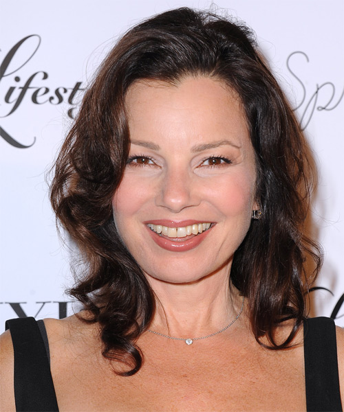 Fran Drescher Medium Wavy Hairstyle - Dark Brunette (Mocha)