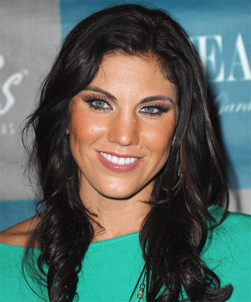 Hope Solo Long Wavy Hairstyle - Black