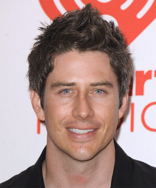 Arie Luyendyk Jr Short Straight Hairstyle - Medium Brunette (Salt and Pepper)