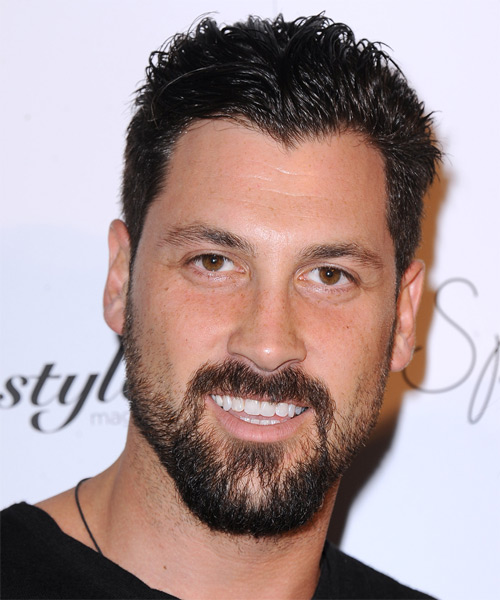 Maksim Chmerkovskiy Short Straight Casual Hairstyle - Dark Brunette Hair Color