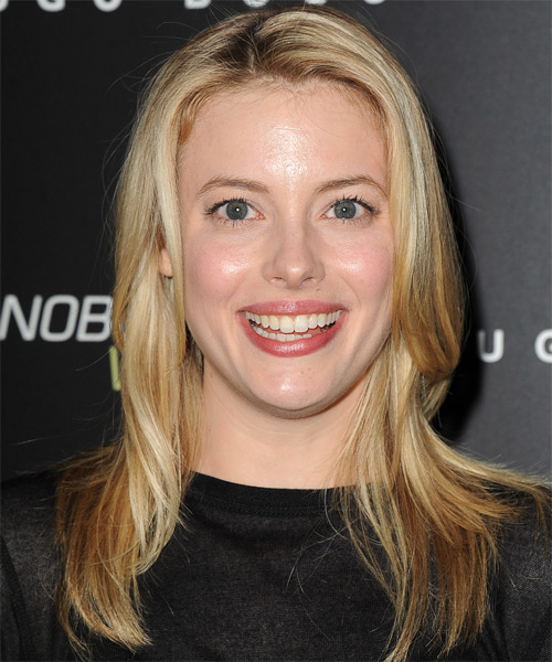 Gillian Jacobs Long Straight Casual Hairstyle - Medium Blonde (Golden) Hair Color