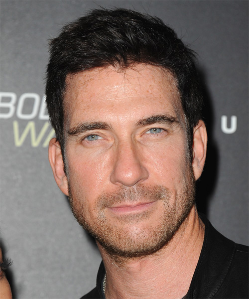 Dylan McDermott Short Straight Hairstyle - Black