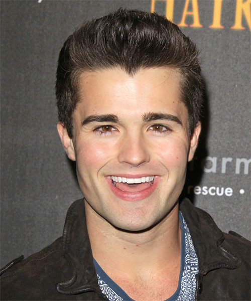 Spencer Boldman Short Straight Hairstyle - Medium Brunette