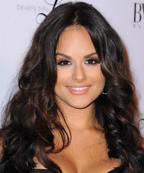 Pia Toscano Long Wavy Casual Hairstyle - Dark Brunette (Mocha) Hair Color