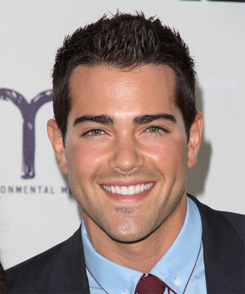 Jesse Metcalfe Short Straight Casual Hairstyle - Dark Brunette (Mocha) Hair Color