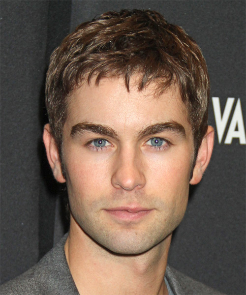 Chase Crawford Short Straight Hairstyle - Light Brunette (Chocolate)
