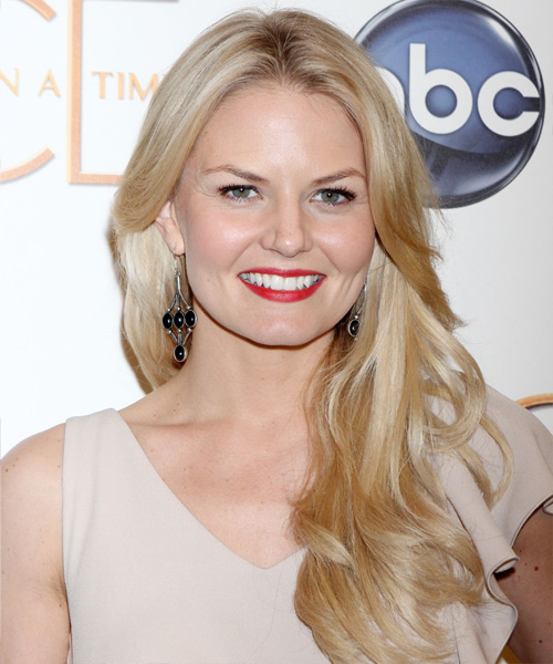 Jennifer Morrison Long Straight Formal Hairstyle - Light Blonde (Golden) Hair Color