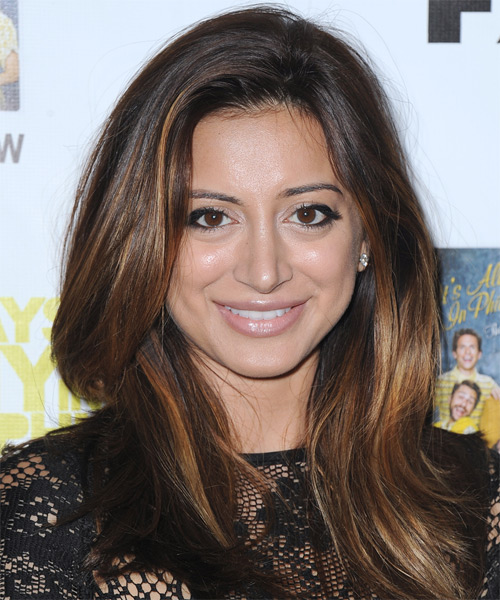 Noureen DeWulf Long Straight Casual Hairstyle - Dark Brunette Hair Color