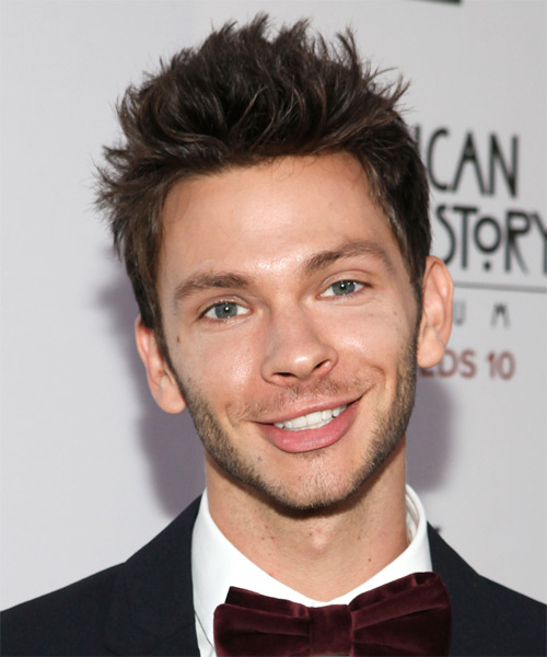 Devon Graye Short Straight Casual Hairstyle - Dark Brunette Hair Color