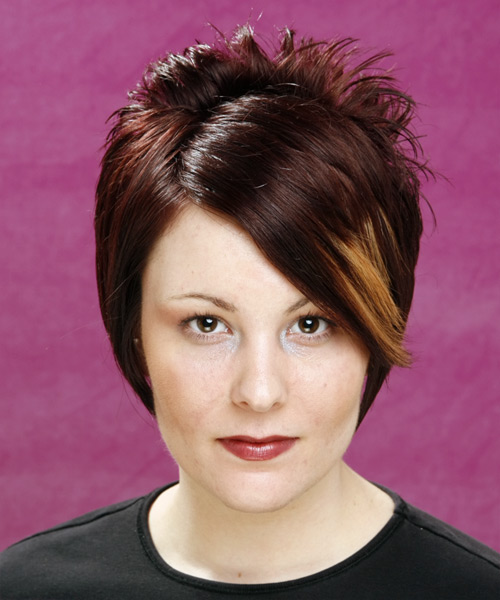 Short Straight Alternative Hairstyle - Medium Brunette (Mocha) Hair Color