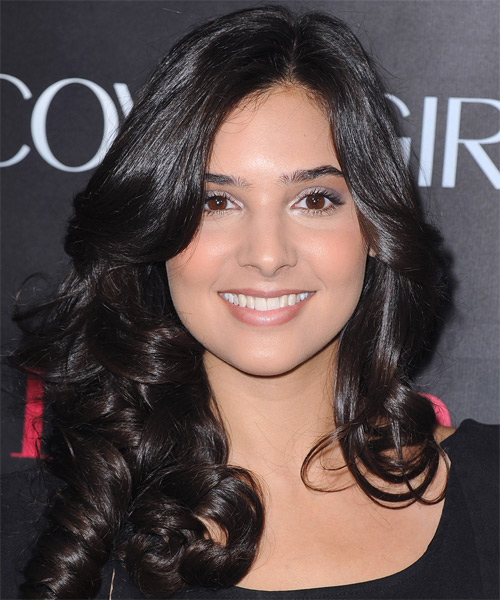 Camila Banus Long Curly Hairstyle - Black