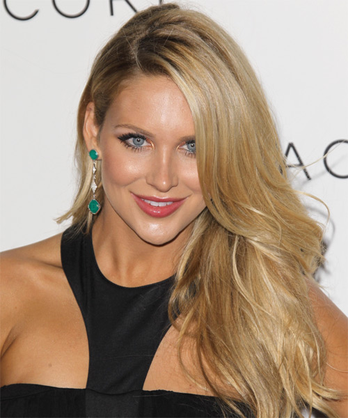 Stephanie Pratt Long Straight Hairstyle - Medium Blonde (Golden)