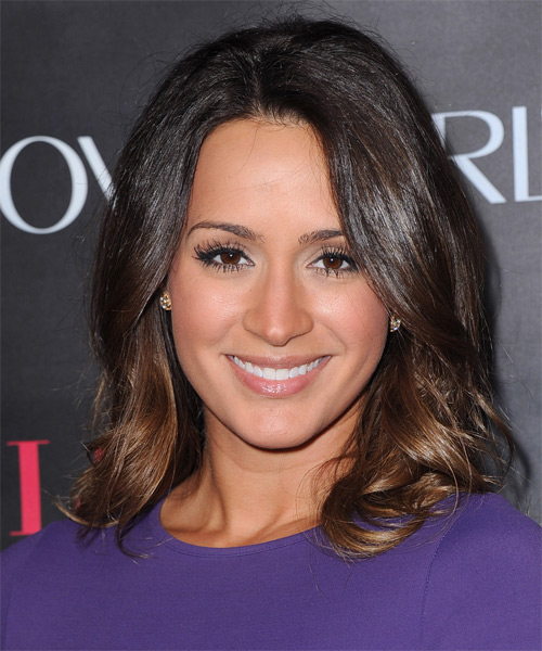 Melissa Marty Medium Straight Formal Hairstyle - Dark Brunette Hair Color