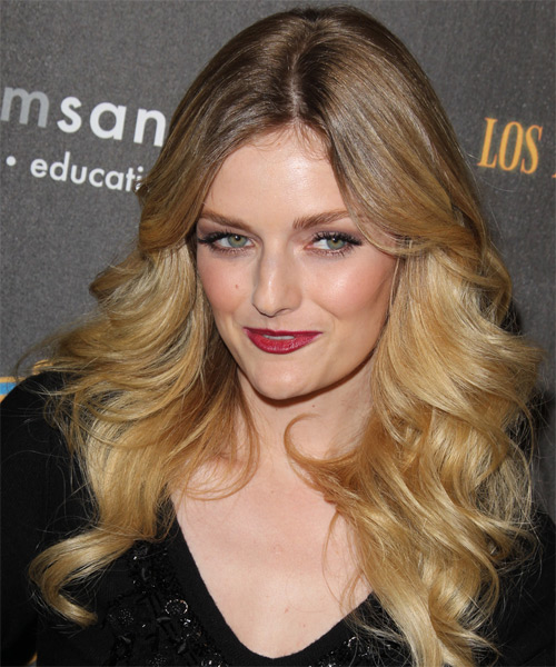 Lydia Hearst Long Wavy Hairstyle - Dark Blonde