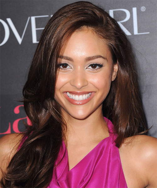 Lindsey Morgan Long Straight Hairstyle - Dark Brunette