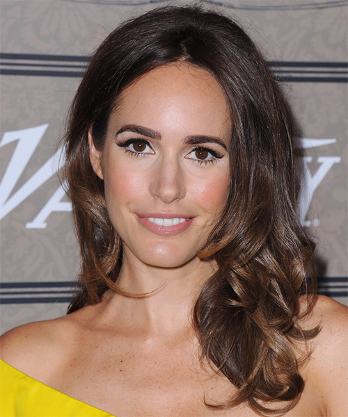 Louise Roe Long Wavy Hairstyle - Dark Brunette (Chocolate)