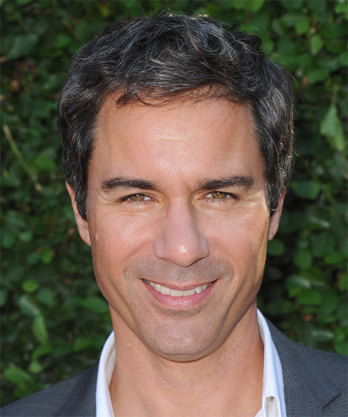 Eric McCormack Short Straight Hairstyle - Dark Brunette (Grey)