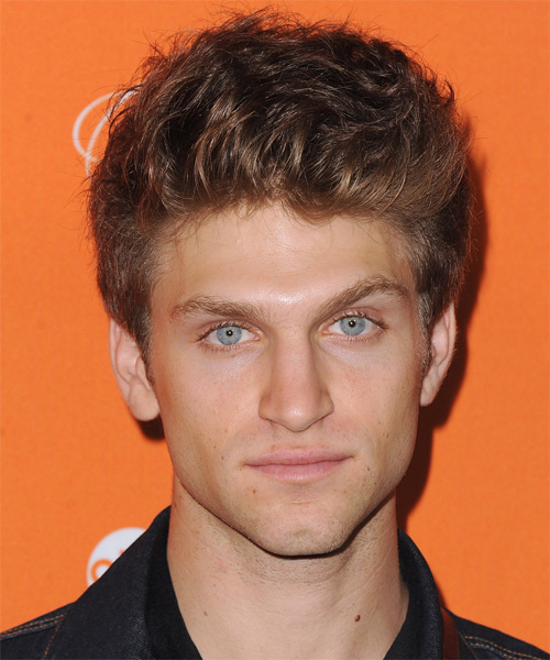 Keegan Allen Short Straight Hairstyle - Medium Brunette (Auburn)