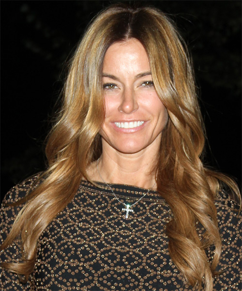 Kelly Bensimon Long Wavy Hairstyle - Light Brunette (Golden)