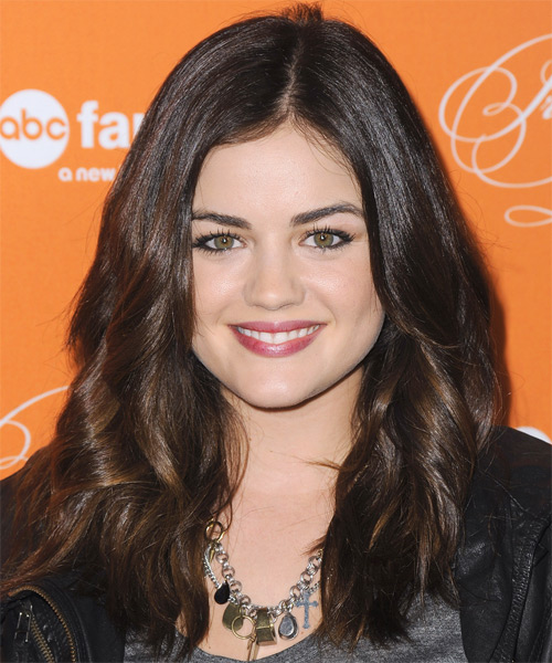 Lucy Hale Long Wavy Hairstyle - Medium Brunette